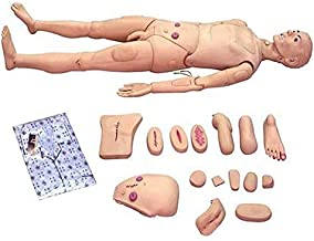 Manlig livstorlek Patientvård Dockdocka Demonstration Mänsklig utbildningssimulator för omvårdnad Medicinsk undervisning U...