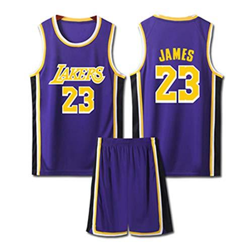 PPDD Camiseta de baloncesto para hombre, camiseta deportiva con uniforme de abanico y malla para hombre, para fitness, ciclismo, sin mangas, traje de dos piezas, color morado