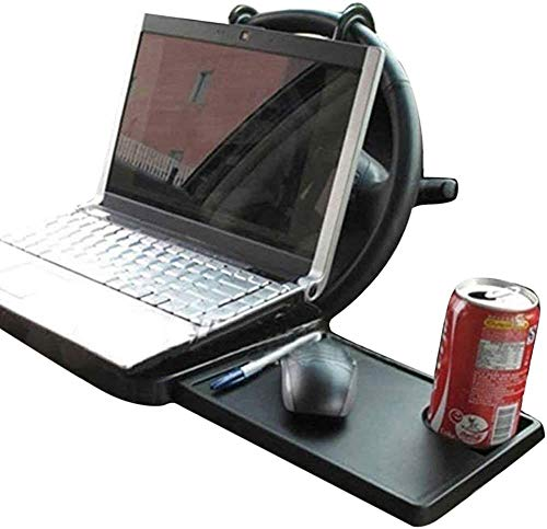 ZHUYU Foldable Car Laptop Stand Foldable Car Seat/Steering Wheel Laptop/Notebook Tray Table Food Drink Holder Stand