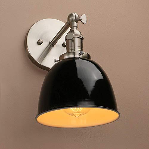 De enige goede kwaliteit Decoratie Zolder Bar Keuken Retro Schakelaar Wandlamp Accessoires Zwart Metalen lampenkap Wandlamp Wandlamp E27 (zwart) Villa