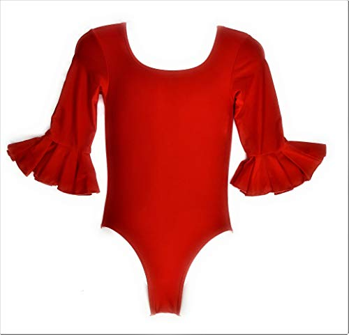 Body de mujer rojo para flamenco y danza (L).