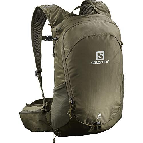 Salomon Trailblazer 20, Zaino Unisex Trail Running Escursionismo Sci Snowboard, Verde (Martini Olive), Taglia Unica