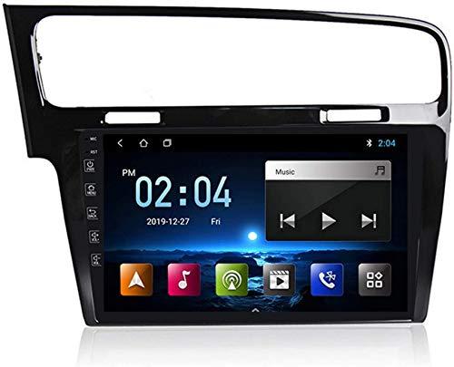 Android 10 Reproductor DVD para automóvil Unidad principal radio Compatible con Volkswagen Golf 7 2013-2017 Navegación GPS Estéreo Lente 9 pulgadas Pantalla táctil Dash Cam 1080P Grabadora salpicade