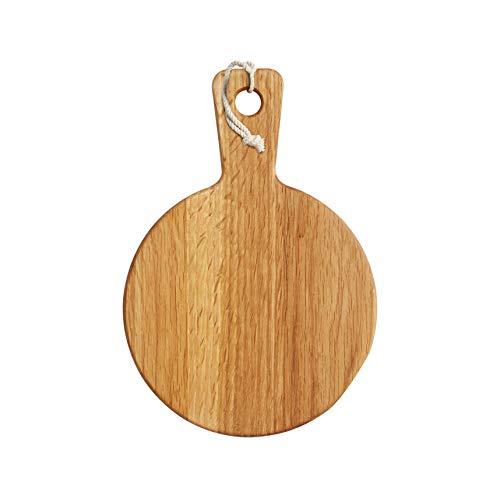 Master Class - Tabla de cortar redonda (madera de roble, tamaño mini)