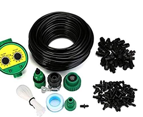 sxyp Tuin Irrigatie Systeem, Distributie Tubing Watering Drip Kit, Spaarwater Automatische Irrigatie Apparatuur Set Voor Tuin Kas, Bloemenbed, Patio, Gazon
