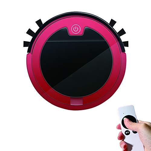 LJJLJJ Aspirateur Robot Nettoyeur, Charge Intelligent Robot Nettoyeur 3 en 1, pour Sols Durs Tapis À Poils Courts,Rouge