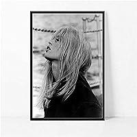 MKAN 映画女優モデル黒白いポスターや版画、壁の写真ビンテージポスター、家の装飾-50X75Cm