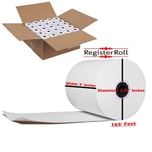 Star sp700 Printer Paper 1-ply 3 inch x 165' Paper 50 Rolls - 1 Ply Bond Paper - Kitchen Printer Paper Rolls - RegisterRoll