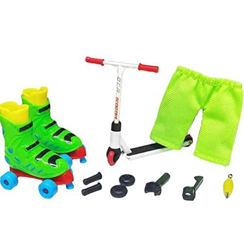 passer Juego de juguetes de aleación de dedo, 12 unidades/set de modelos de scooter de dedo para niños, mini scooter interactivo juguete de dedo de actividad sensorial scooter Skateboard Kit