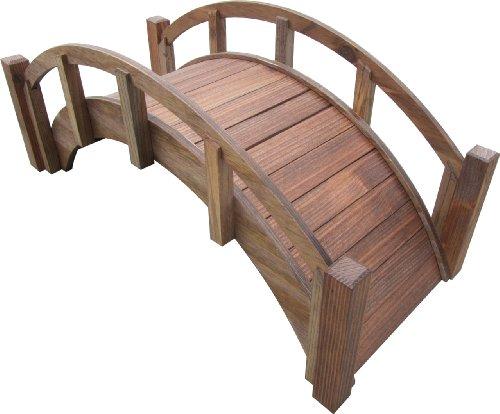 "SamsGazebos Miniature Japanese Wood Garden Bridge, Treated, Assembled, 25"" Long X 11"" Tall X 11-1/2"" Wide, Made in USA"