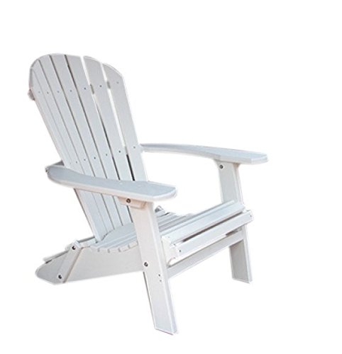 Phat Tommy Recycled Poly Resin Folding Deluxe Adirondack Chair – Durable and Eco-Friendly Armchair. This Patio Furniture is Great for Your Lawn, Garden, Swimming Pool, Deck.