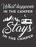 Diario de viaje en caravana: Tu libro personal  de recorridos para viajes en caravana y camping  formato A4+  motivo: what happens in the camper weiss