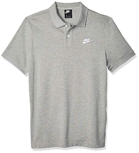 Nike Herren M NSW CE Polo Matchup PQ Shirt, dk Grey Heather/(White), 2XL