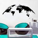 Blrpbc Pegatinas de Pared Adhesivos Pared Agencia de Viajes decoración geografía Tierra Mundo Mapa Vinilo decoración del hogar Sala de Estar Oficina Papel Tapiz 134x57cm