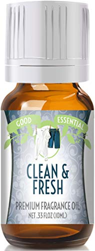 Clean & Fresh Scented Oil by Good Essential (Premium Grade Fragrance Oil) - Perfect for Aromatherapy, Soaps, Candles, Slime, Lotions, and More!