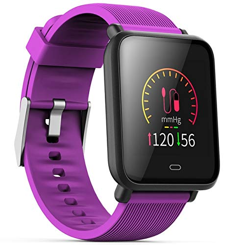Multi-Dial Q9 Smartwatch IPX67 Waterproof Sports For Android IOS With Heart Rate Monitor Blood Pressure Functions Smart Watch Purple Universal