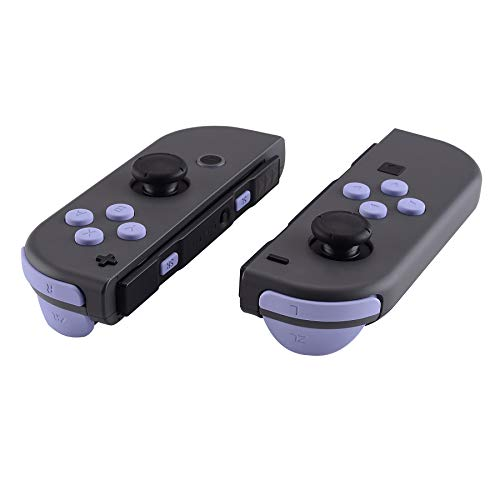 eXtremeRate Light Violet Replacement ABXY Direction Keys SR SL L R ZR ZL Trigger Buttons Springs, Full Set Buttons Repair Kits with Tools for Nintendo Switch Joy-Con JoyCon Shell NOT Included