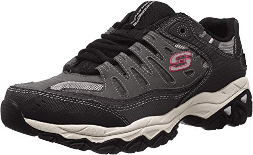 Skechers mens Afterburn M. Fit fashion sneakers, Charcoal/Black, 11 X-Wide US