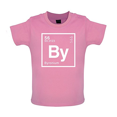 BYRON - Periodic Element - Baby / Toddler T-Shirt - Bubble Gum Pink - 12-18 Months