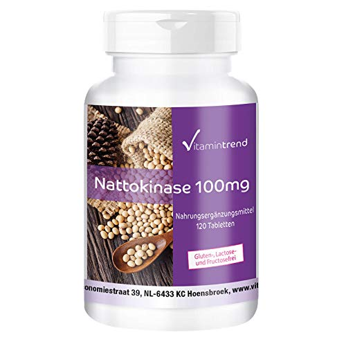Nattokinase 100mg - 2000 FU pro Tablette - 120 Tabletten - Vegan - Hochdosiert
