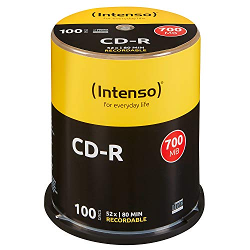 Intenso CD-R 100er Spindel 700MB 52x Speed CD-Rohlinge