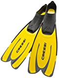 Cressi Agua, Pinne Self Adjusting per Immersioni, Snorkeling e Nuoto Unisex Adulto, Giallo, 43/44