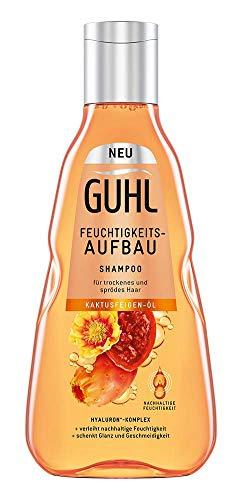 Guhl Feuchtigkeits-Aufbau Shampoo - mit Kaktusfeigen-Öl - für trockenes, sprödes & strapaziertes Haar - verleiht schwerelose Feuchtigkeit, 250 ml