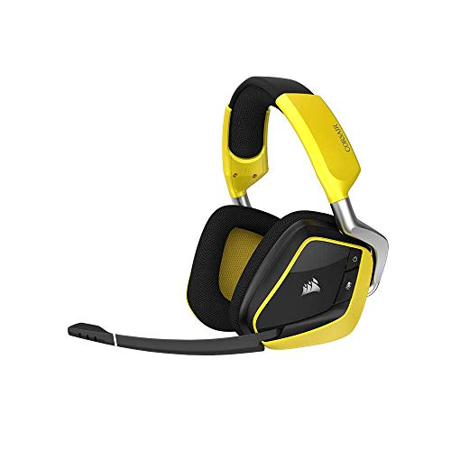 Corsair VOID PRO RGB USB Gaming Headset (PC, USB, Dolby 7.1) black, Color:Gelb (Yellow), CE Serie:Wireless Special Edition (Generalüberholt)