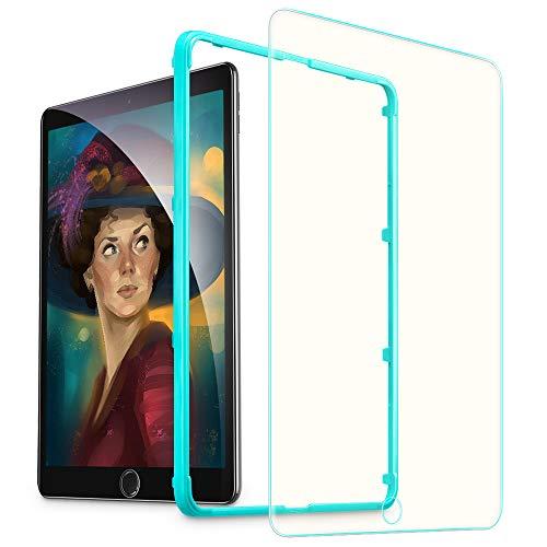 ESR iPad 9.7 フィルム iPad Pro 9.7 ブルーライトカット フィルム 2017年と2018年版モデル通用 Air2 Air The New iPad 9.7インチ通用 日本ガラス素材製 0.3mm 三倍強化 ガラス 液晶保護フィルム 貼り付けガイド枠付き 硬度9H 気泡自動排除 スクラッチ 指紋防止
