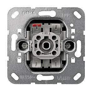 GIRA System 55 Standard E2, Reinweiß glänzend, Steckdose Schalter Rahmen Wippe (010600 Aus-/Wechselschalter, 1 Stück)