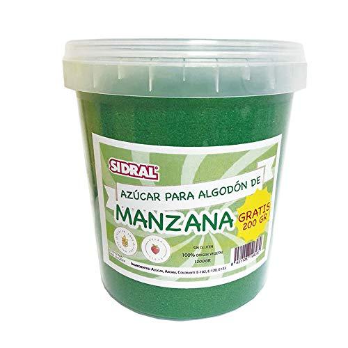 MANZANA | Algodón de Azúcar 1200gr. (200gr. GRATIS)