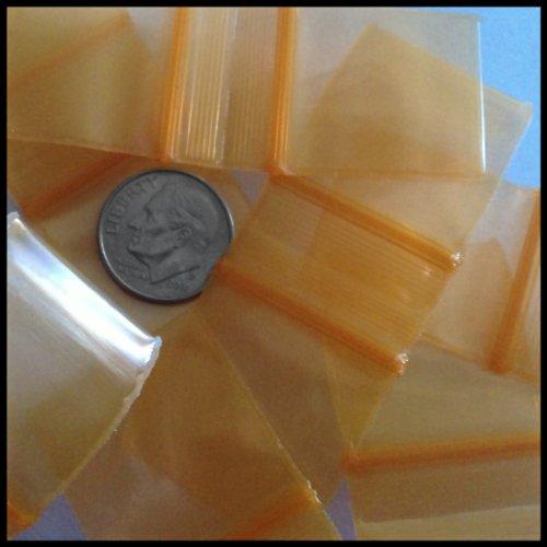 "Mini Ziplock Bags 1010 Chose A Color (16 Choices) 1"" X 1"" Bags Reclosable Plastic Baggies High End Quality (black) 100 bags Photo #5"