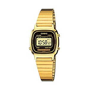 Casio watches Casio Women's Vintage LA670WGA-1DF Daily Alarm Digital Gold-tone Watch