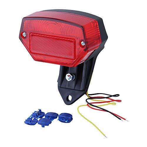 Zündapp Kreidler Puch Hercules Mofa Moped Mokick Rücklicht Rückleuchte LED mit Halterung