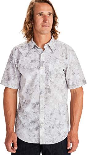 Marmot Herren Bennett Peak Kurzarm Hemd, Light Grey Leaf Camo, XL