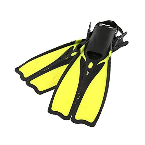 ZAYZ Natación de Regazo Esnórquel Buceo Aletas Largas Tacón Abierto Ajustable Aleta, Flexible Cómodo (Color : Yellow, Size : L)