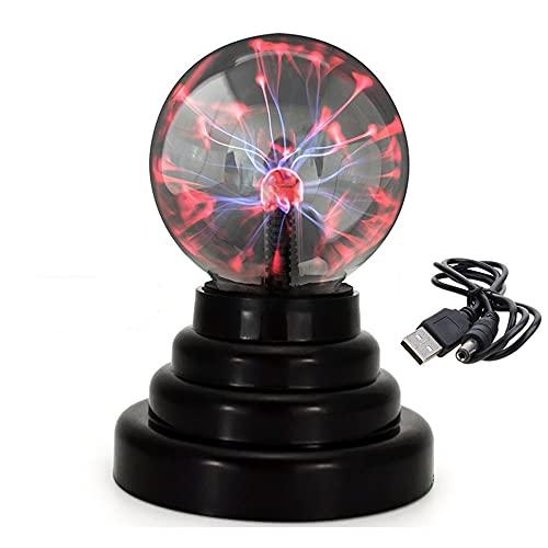 Pure Vie - Luz de Plasma mágica, Bola de Globo eléctrica mágica Sensible al Tacto, lámpara de relámpago USB/con Pilas, Creativa para la decoración del Dormitorio del Escritorio de Oficina - #3