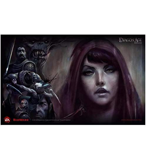 Kongzir Juego Morrigan Dragon Age Dao Face Origins Ogr Morrigan Dragon Age Origin Pintura De La Cara Arte De La Pared Imágenes Decoración De La Sala De Estar -60X90Cmx1Pcs- Sin Marco