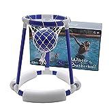 DealMux Water Games Canasta de baloncesto flotante, Juego de aro flotante para niños y adultos, Juego de tiro de baloncesto de agua inflable con anillo de aro flotante, Azul confiable