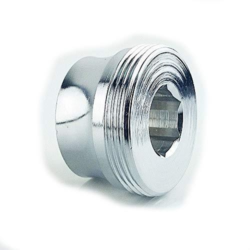 M18 IG x M22 AG Chrom, Gewinde Adapter, für Gewinde von neueren Designhähnen - für kleine Perlstrahlergewinde zum Anbringen z.B. eines Aquadea Kristall Wirblers oder Übertischfilter, M18IG auf M22x1 AG- oft bei Dornbracht, m18