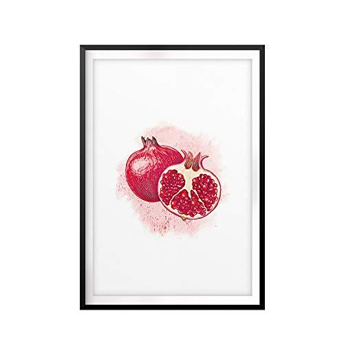 Designs ByLITA Pomegranate Watercolor 11 x 14 UNFRAMED Print Fruit Wall Art