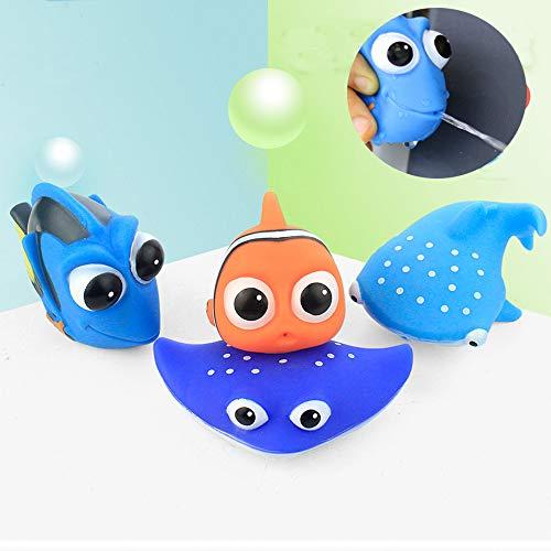Amdear Encontrar a Dory Nemo Bath Squirters Juguetes de baño para bebés y niños pequeños juguetes ducha y natación 4 piezas