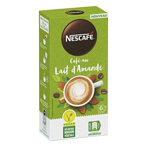Nescafé Café au Lait d'Amande - Café Soluble - 36 Sticks (Pack de 6 Boîtes x 6)