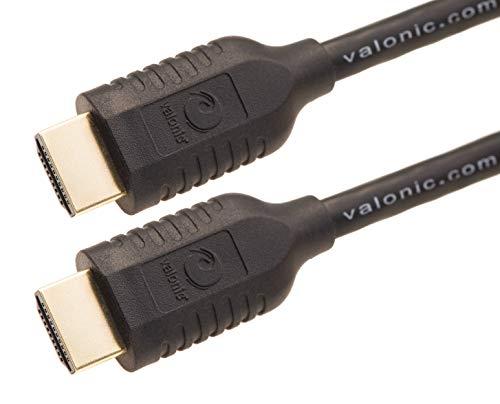 valonic HDMI Kabel | 1m | 4k | ARC | UHD | Full HD | Ethernet | schwarz | 100cm TV Kabel, Monitorkabel, hdmi Cable für PC oder Switch