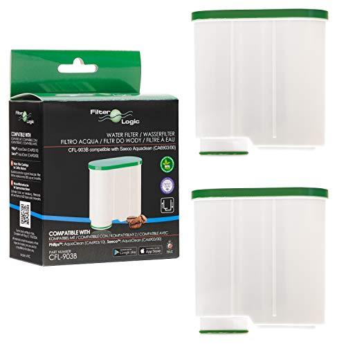 FilterLogic CFL-903B | 2-pack waterfilter compatibel met Saeco AquaClean CA6903/00 CA6903/01 CA6903/99 CA6903 kalkfilter, Aqua Clean filterpatroon voor koffieautomaat