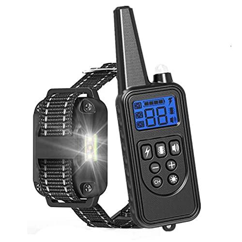 LPWCAWL Anti-Bell-Gerät,tragbarer Stoppen des Hundegebells,USB Wiederaufladbares Bark Control Abschreckungs,Sicheres Hundehalsband Mit Fernbedienung 800m Reichweite