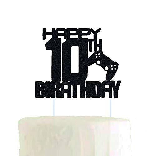 Video Game Happy Birthday cake topper for Boy 10 Years Old Gamer Birthday Decorations