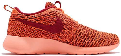 NIKE WMNS Rosherun Flyknit Schuhe Damen Sneaker Turnschuhe Orange 704927 801, Größenauswahl:37.5