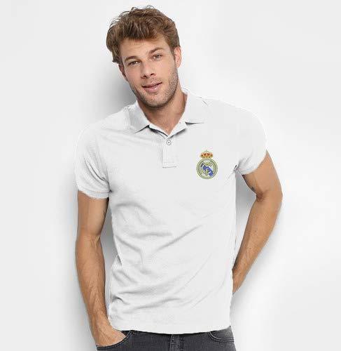 Camisa Do Real Madrid 100% Bordada Tamanho:GG;Cor:Branco