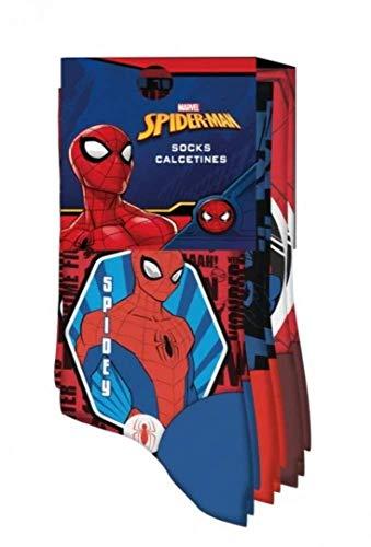 Kids Licensing | Calcetines Infantiles - Calcetines Diseño Spiderman - Diferentes Diseños - Personajes Marvel - Tejido Transpirables - Elástico en Arco Licencia de Producto Oficial